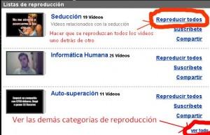 Youtube - Lista de reproducción